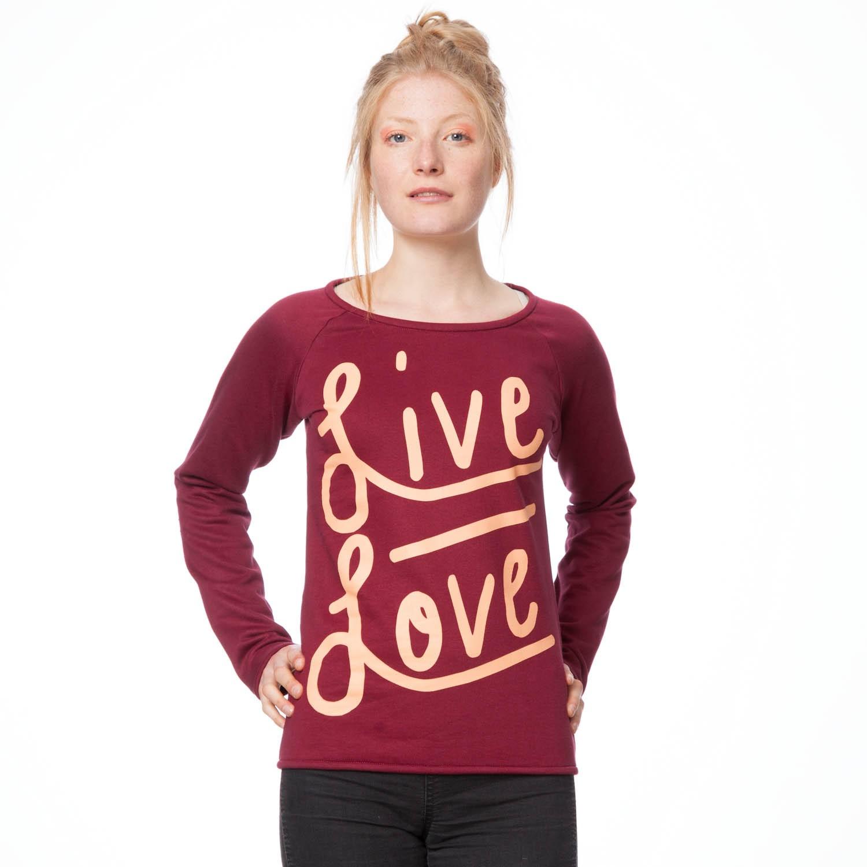 ThokkThokk Live Love Sweater Woman salmon/ruby