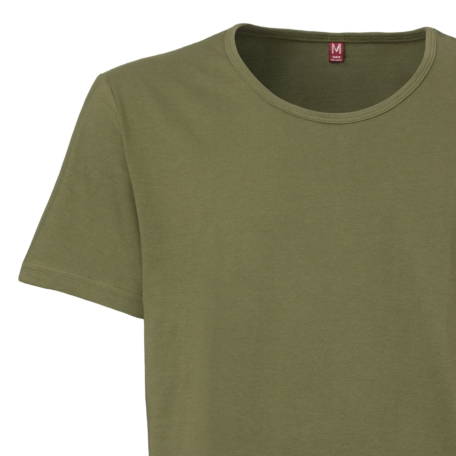 Tt19 wide neck t shirt dark green fairtrade gots gentlemen Fair trade plain t shirts