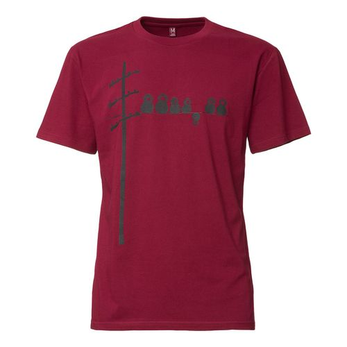 FellHerz Make Some Noise T-Shirt black/ruby made of 100% organic cotton // Organic and Fair