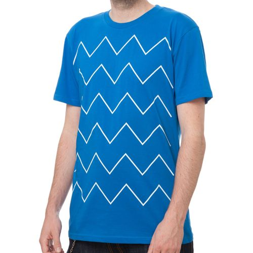ThokkThokk Thin ZigZag T-Shirt white/french blue made of 100% organic cotton // GOTS and Fairtrade certified