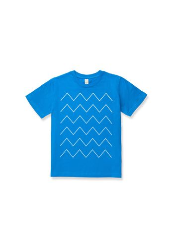 ThokkThokk Kids T-shirt Thin ZigZag Blue Organic Fair