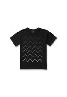 Kids T-Shirt Thin ZigZag Gradient Black