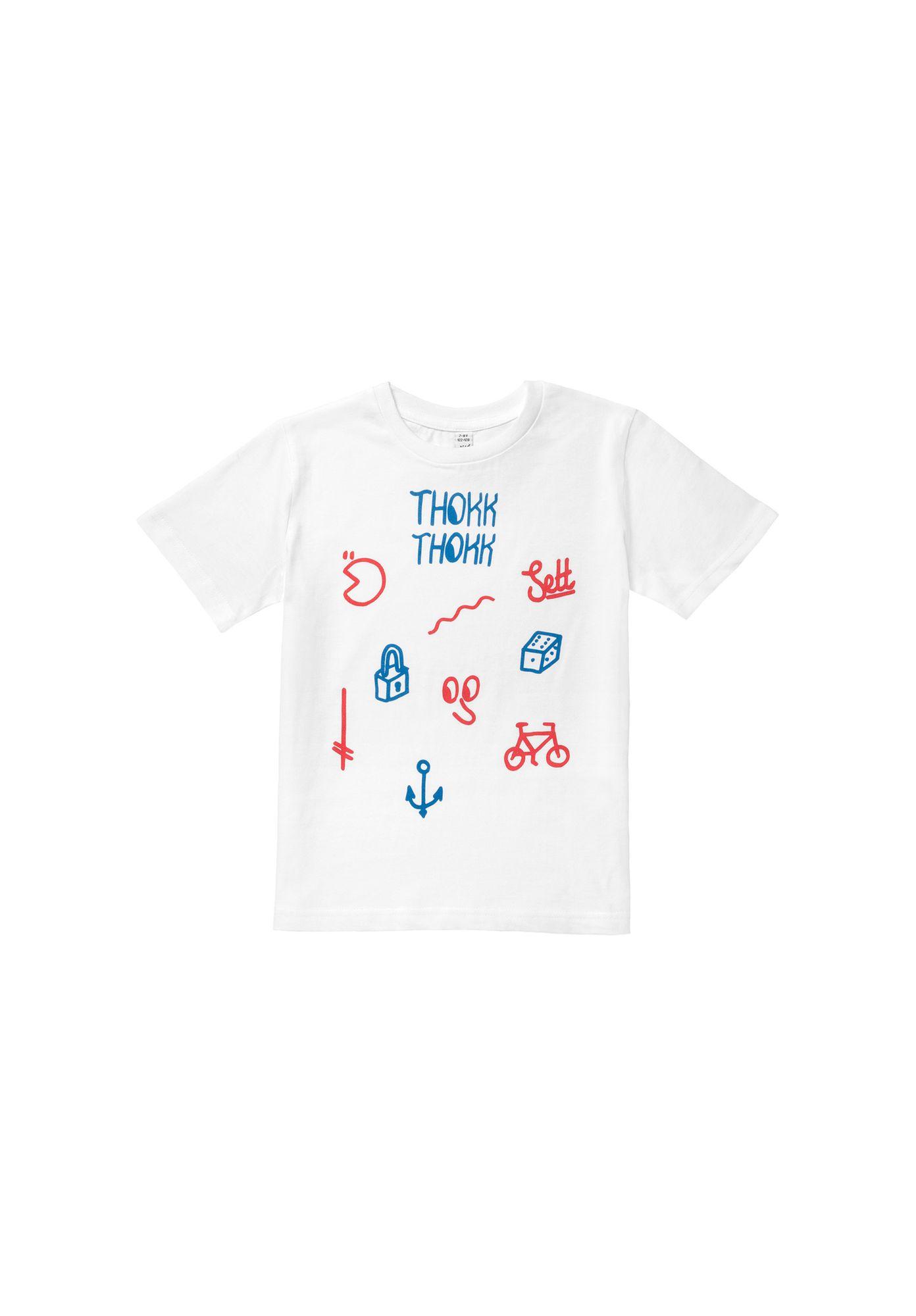 Kids T-Shirt Sketch White