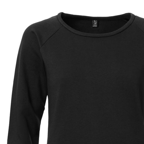 ThokkThokk TT1001 Sweater Woman Black made of 100% organic cotton // GOTS and Fairtrade certified