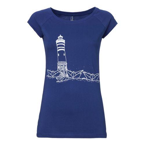 ilovemixtapes Paperharbour Cap Sleeve T-Shirt Damen weiß/blau aus Biobaumwolle hergestellt // Bio und Fair