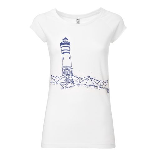 ilovemixtapes Paperharbour Cap Sleeve T-Shirt Woman blue/white made of organic cotton // Organic and Fair