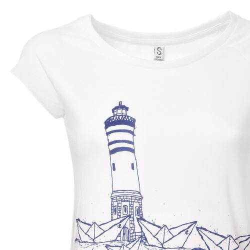ilovemixtapes Damen T-Shirt Paperharbour Weiß Bio Fair