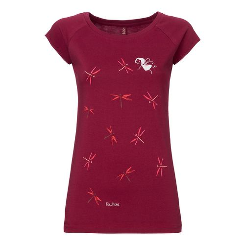 FellHerz Dragonfly Cap Sleeve ruby