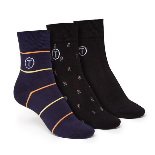 ThokkThokk 3er Pack Mid-Top Socken Black/Stripe/Arrow aus Biobaumwolle // GOTS & Fairtrade zertifiziert