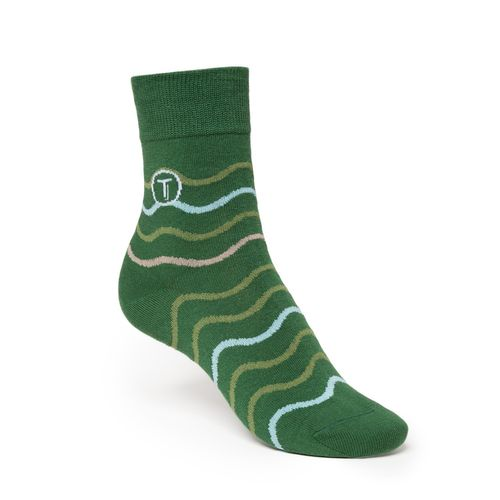 ThokkThokk 3er Pack Mid-Top Socken Stripe/Waves/Teal