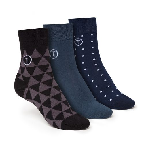 ThokkThokk 3er Pack Mid-Top Socken Teal/Triangle/Cube