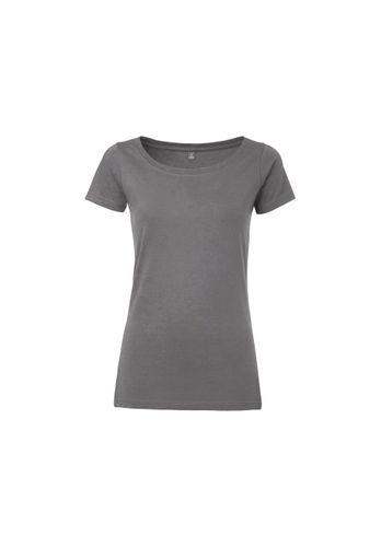 ThokkThokk Damen T-Shirt Dunkelgrau Bio Fair