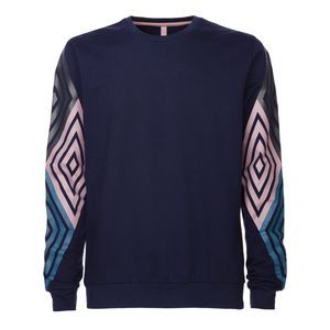 ThokkThokk TT29 Diamond Sleeves Pullover Midnight Fairtrade GOTS
