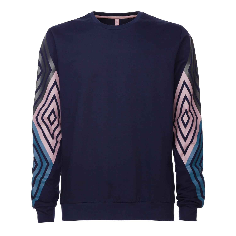 TT29 Diamond Sleeves Pullover midnight Fairtrade GOTS