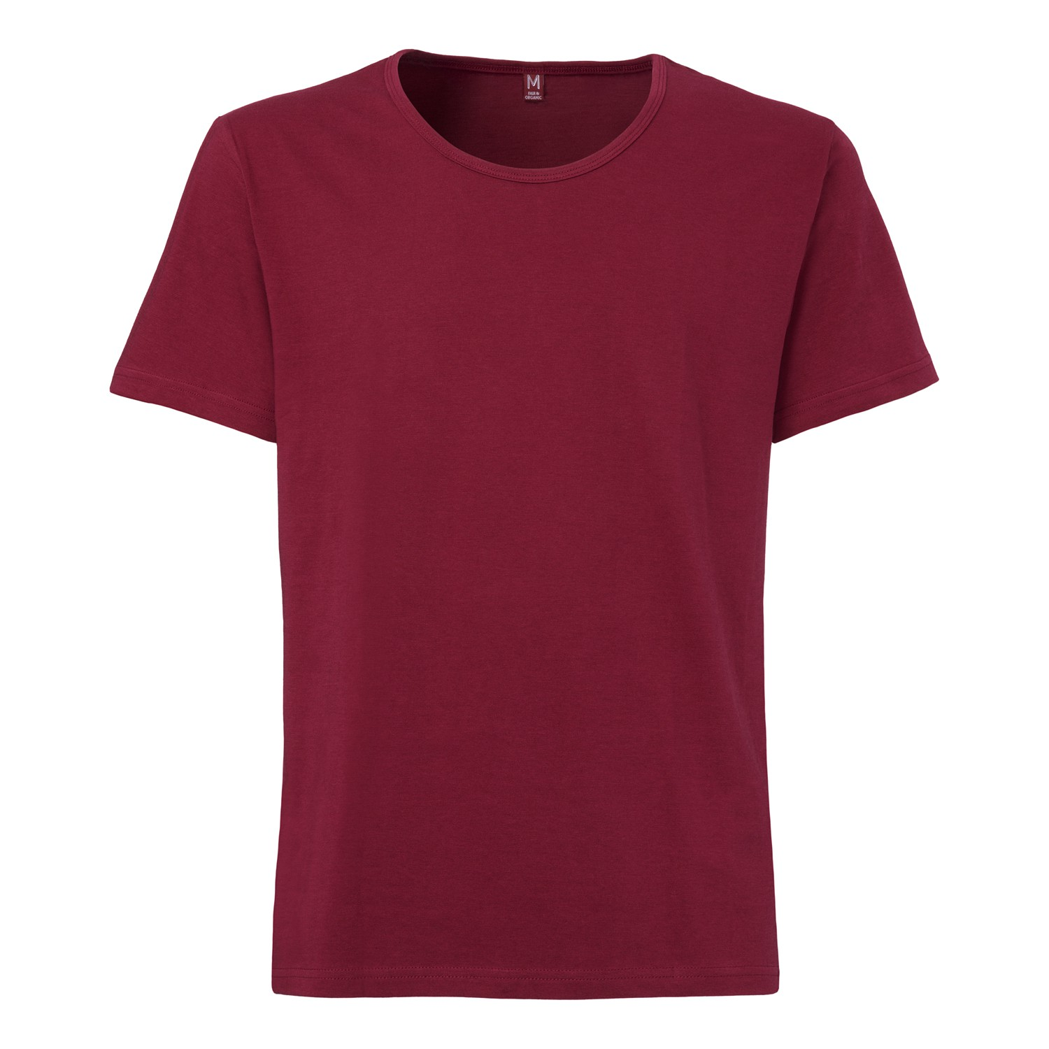 Tt19 wide neck t shirt ruby fairtrade gots sale man Fair trade plain t shirts