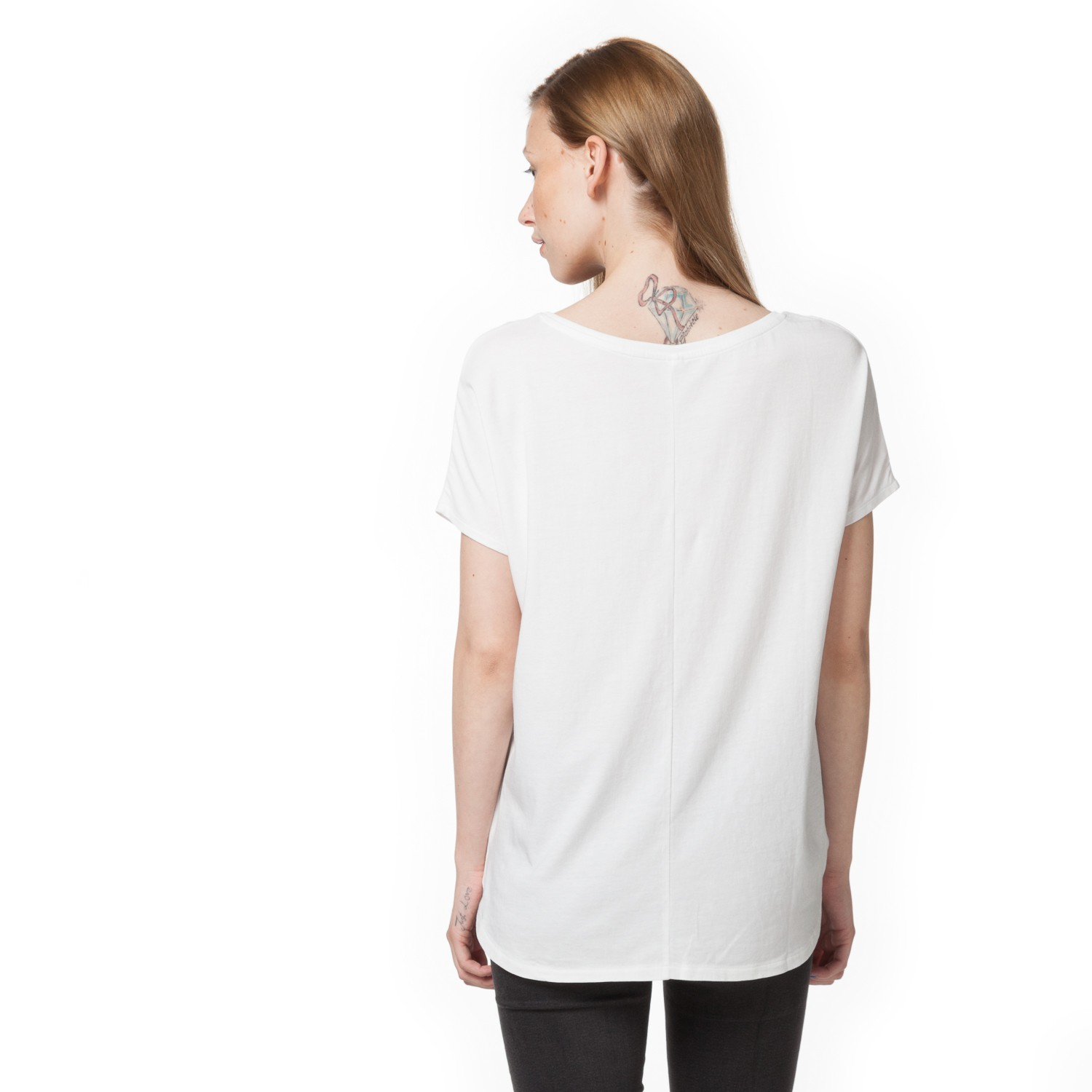 Tt17 oversize t shirt white fairtrade gots sale woman Fair trade plain t shirts