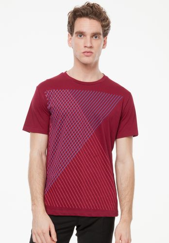 ThokkThokk Spacegrid T-Shirt ruby made of 100% organic cotton // GOTS and Fairtrade certified