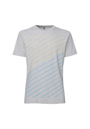 ThokkThokk Herren T-Shirt Thin Striped Hellgrau Bio Fair
