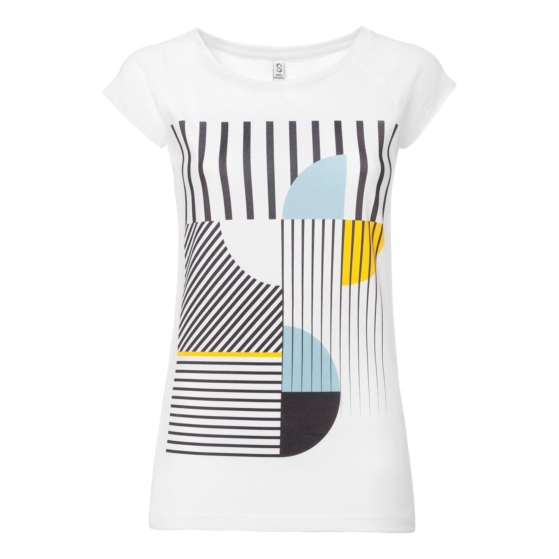 Art Déco Miami Cap Sleeve white GOTS & Fairtrade