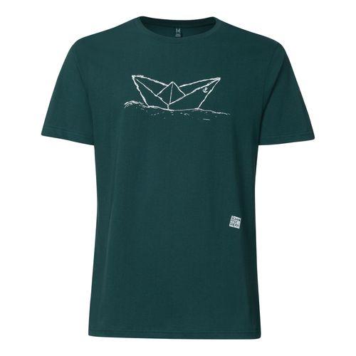 ilovemixtapes Paperboat T-Shirt white/deep teal