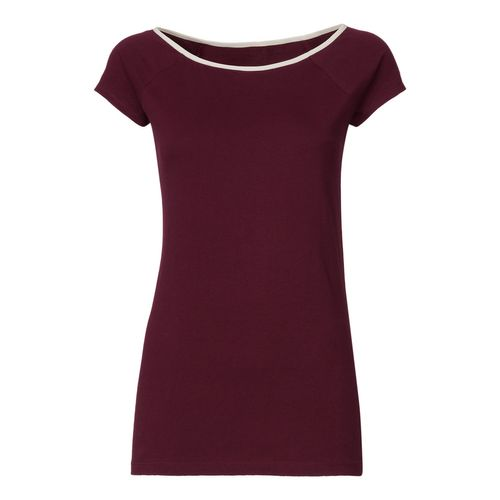ThokkThokk TT24 Boat Neck T-shirt Bordeaux/rose