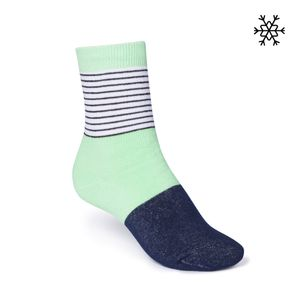 ThokkThokk Triple Striped High-Top Plüsch Socken b&w/mint/midnight