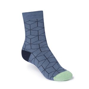 ThokkThokk Cubed High-Top Plüsch Socken blue grey