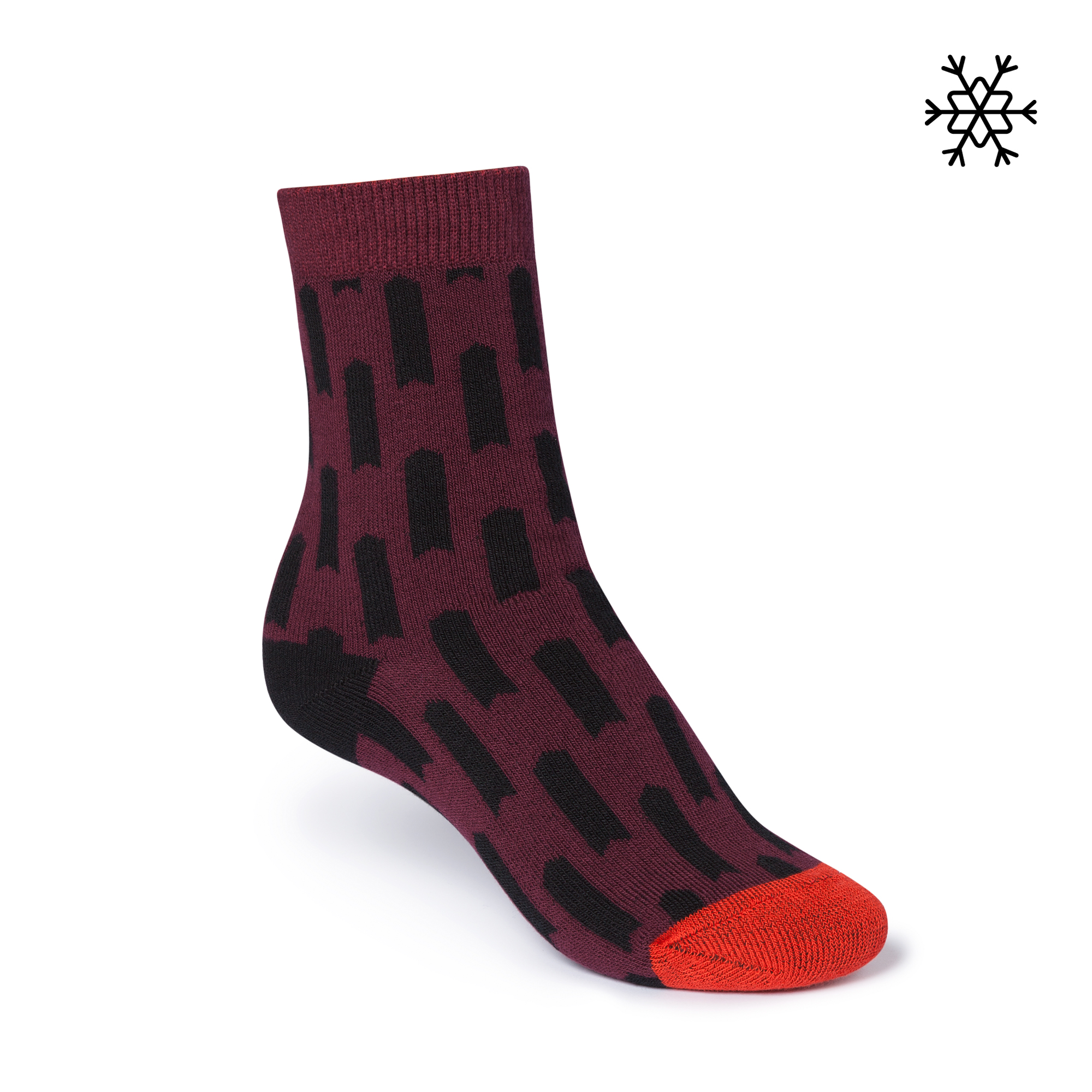 Lift High-Top Plüsch Socken dark red