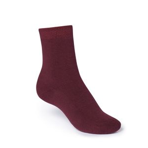 ThokkThokk Plain High-Top Plüsch Socken dark red