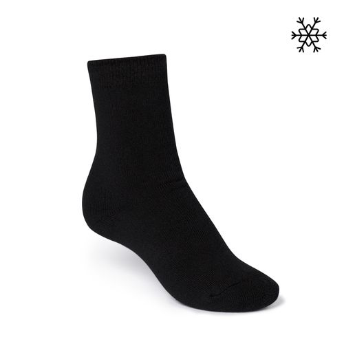 ThokkThokk Plain High-Top Plüsch Socken black