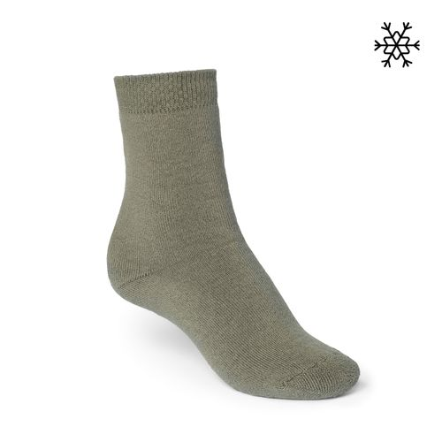 ThokkThokk Plain High-Top Plüsch Socken olive