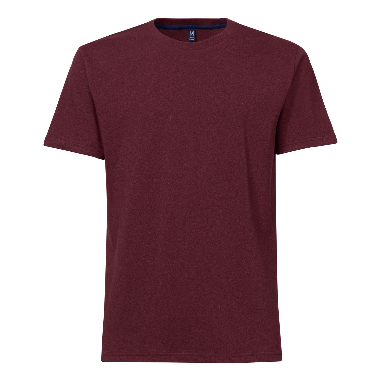 TT02 T-Shirt Dark Red Melange GOTS & Fairtrade