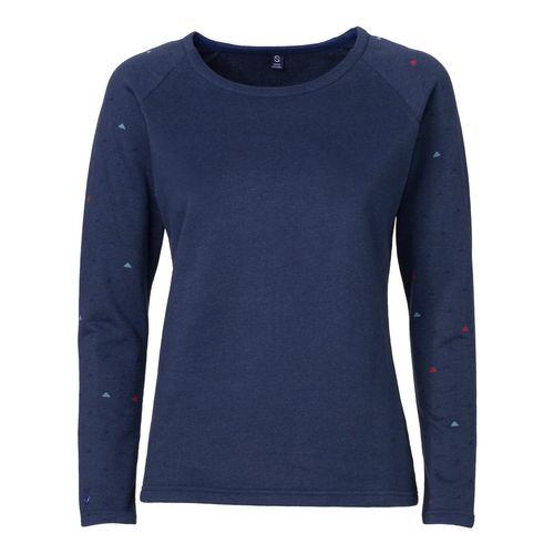 ThokkThokk Pythagoras Sweater Woman Midnight Melange aus Biobaumwolle hergestellt // GOTS und Fairtrade zertifiziert