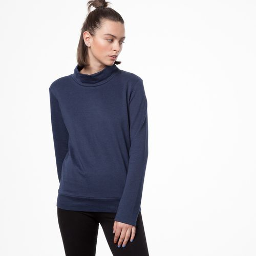 ThokkThokk TT1014 Turtle Neck Sweater Midnight Melange Fairtrade GOTS