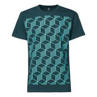 Sashiko T-Shirt mint/deep teal GOTS & Fairtrade