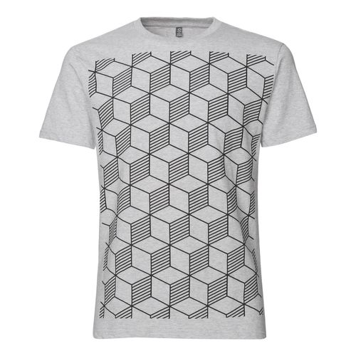 ThokkThokk Sashiko T-Shirt black/melange grey made of 100% organic cotton // GOTS and Fairtrade certified