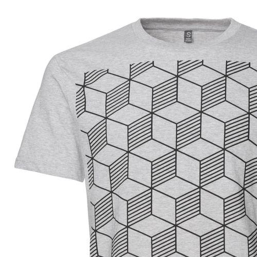 ThokkThokk Sashiko T-Shirt black/melange grey made of 100% organic cotton // GOTS and Fairtrade certified
