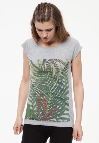 ThokkThokk Damen T-Shirt Jungle Hellgrau Bio Fair