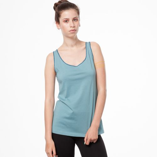 ThokkThokk TT23 Light Tank Top Woman Smoke Blue Fairtrade GOTS