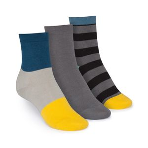 ThokkThokk 3er Pack Mid-Top Socken Triple/Graphite/Tape GOTS Fairtrade