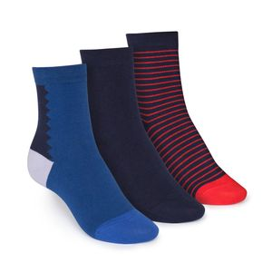 ThokkThokk 3er Pack Mid-Top Socken Art Deco/Midnight/Stripe GOTS Fairtrade