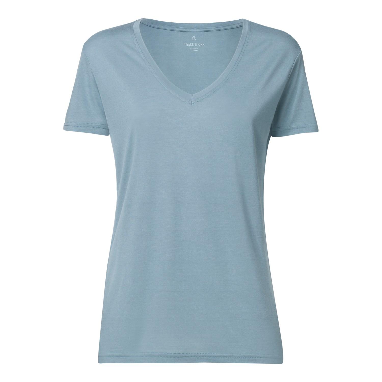 woman modal v neck t shirt citadel blue fair. Black Bedroom Furniture Sets. Home Design Ideas