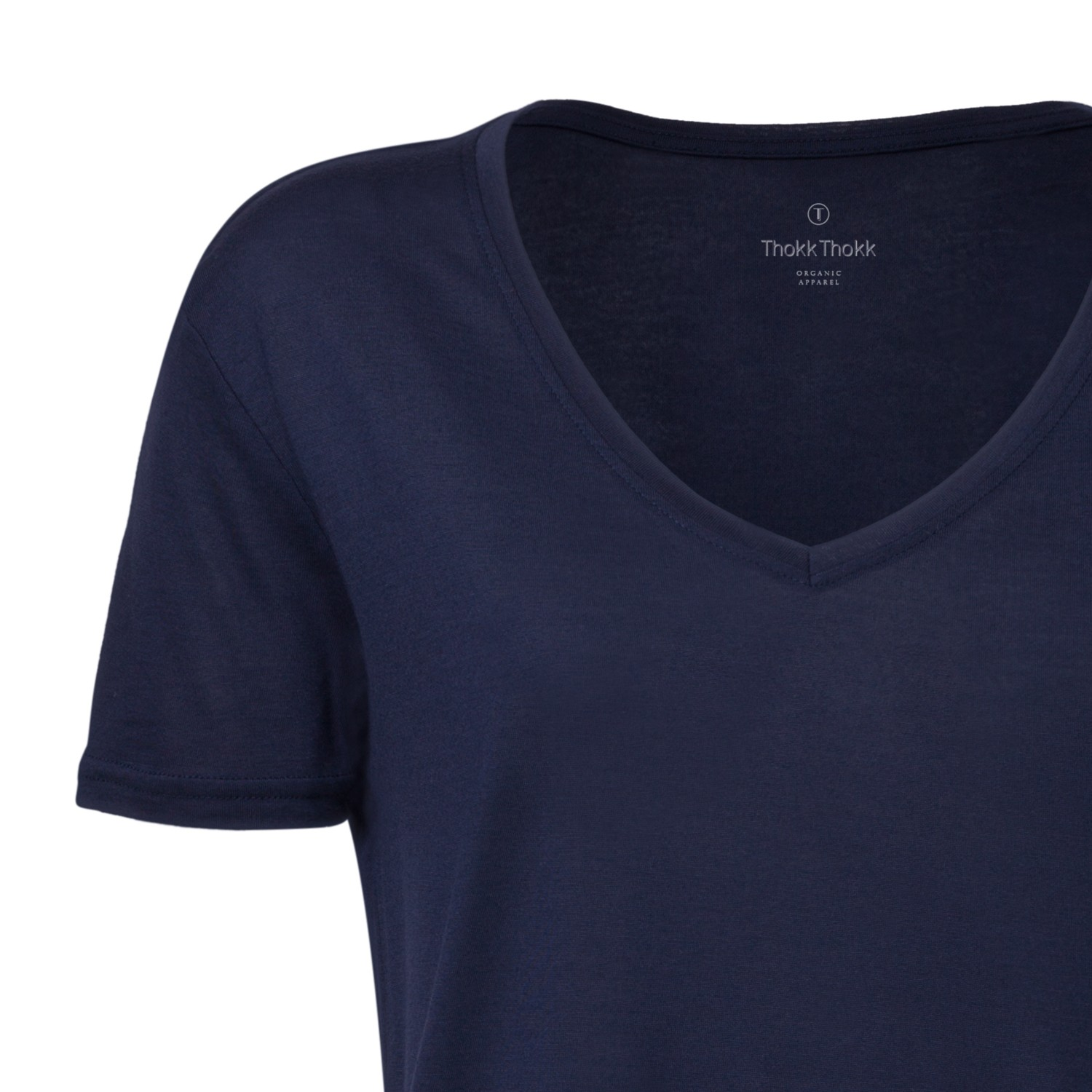 woman modal v neck t shirt french navy fair. Black Bedroom Furniture Sets. Home Design Ideas