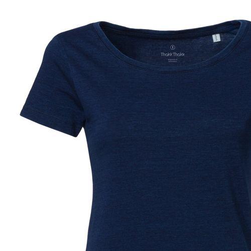 ThokkThokk Damen T-Shirt Dunkelblau Bio Fair