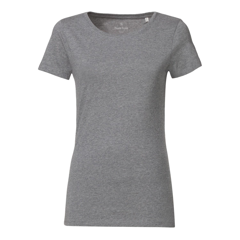 Woman T Shirt Mid Heather Grey Bio Fair Ko Ops