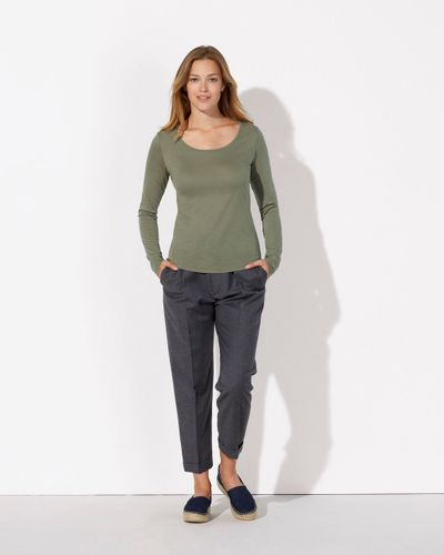 ThokkThokk Damen Tencel Longsleeve Light Khaki Bio & Fair