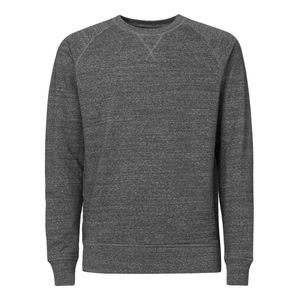 ThokkThokk Man Raglan Sleeve Sweatshirt slub heather steel grey Bio & Fair