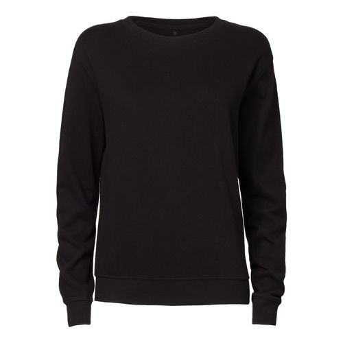 ThokkThokk Woman Crewneck Sweatshirt Black Bio & Fair