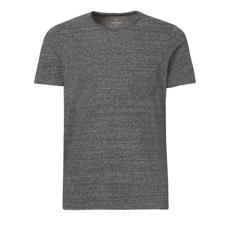ThokkThokk Herren Raw Edged Pocket T-Shirt Slub...