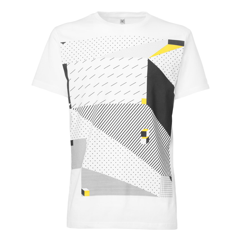 3D Illusion T-Shirt white GOTS & Fairtrade